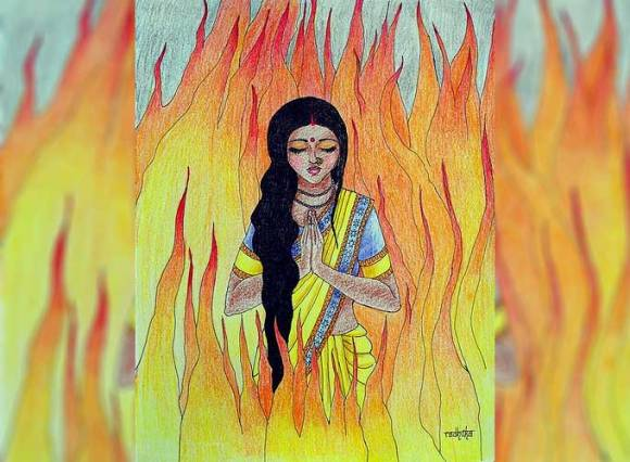 sita-agni-pariksha-the-ramayana